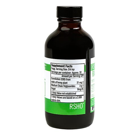 Real Scientific Hemp Oil Green Label side