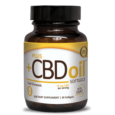 Plus CBD Oil Gold Formula Softgels 15mg 30ct