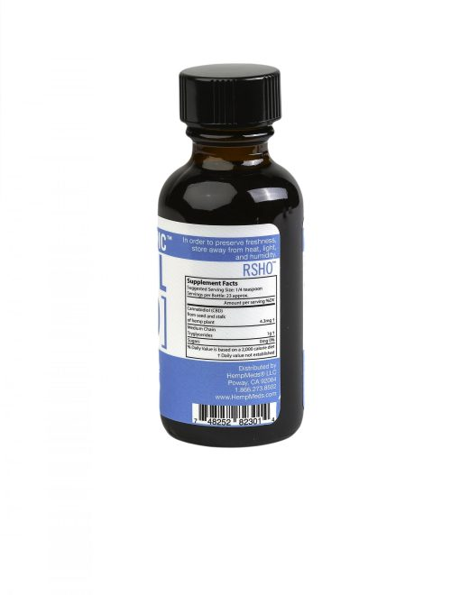 real scientific hemp oil blue label 1oz suppliment