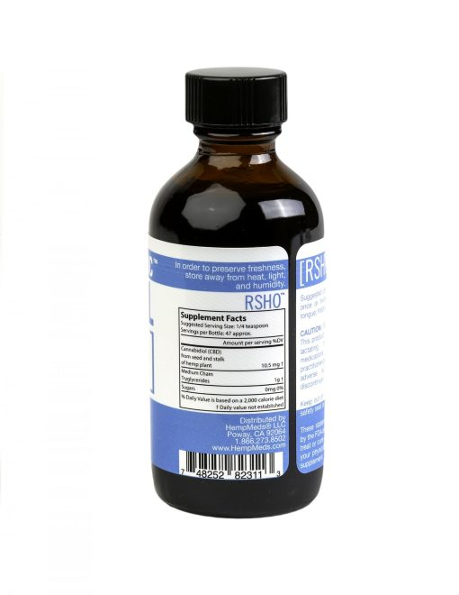 real scientific hemp oil blue label 500mg 2oz suppliment