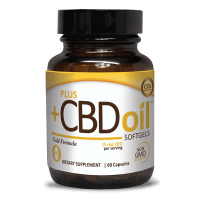Plus CBD Oil Gold Formula Softgels 15mg (60ct)