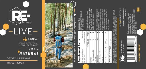 Relive Everyday Natural 1200mg Level 2 Label