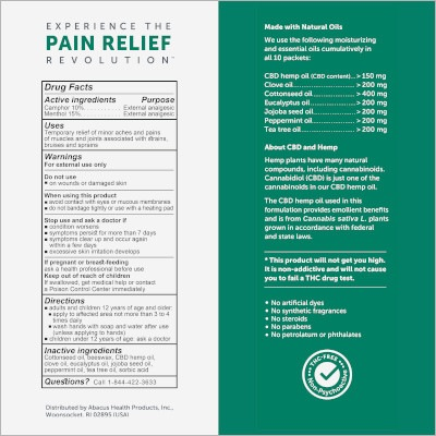 CBD Medic Muscle and Joint Ointment Facts